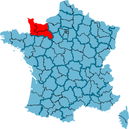 Carte Basse-Normandie
