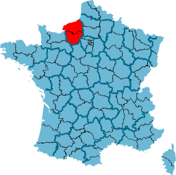 Carte Haute-Normandie